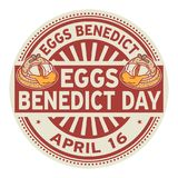 Eggs Benedict Day stamp Royalty Free Stock Images