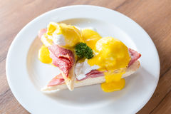 Eggs Benedict Ham Royalty Free Stock Photo