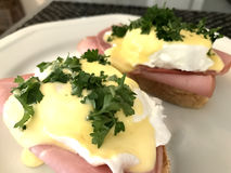 Eggs Benedict. In the morning Royalty Free Stock Image