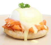 Eggs Benedict with Smoked Salmon Royalty Free Stock Photography