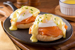 Eggs Benedict with Smoked Salmon Stock Image