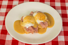 Eggs Benedict on Toast Stock Image