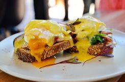 Eggs Benedict on Toast Stock Images