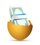 Eggs and bills illustration design. Over a white background Stock Photo