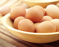Eggs in birds nest Stock Images