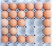 An eggs in block Stock Photos