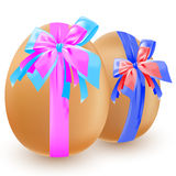Eggs and bow Royalty Free Stock Image