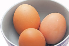 Eggs in a bowl Royalty Free Stock Photography