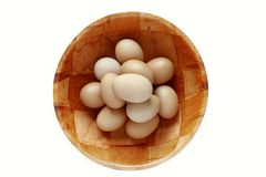 Eggs in bowl Royalty Free Stock Photography