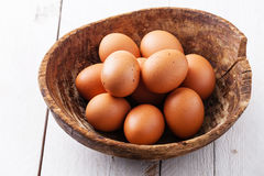 Eggs in bowl Royalty Free Stock Photos