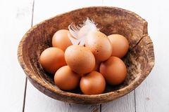 Eggs in bowl Royalty Free Stock Images