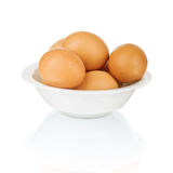 Eggs in a bowl. Royalty Free Stock Photos