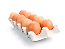 Eggs in a bowl Stock Image