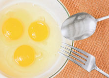 Eggs in a bowl Stock Images