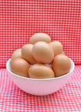 Eggs in the bowl Royalty Free Stock Photography