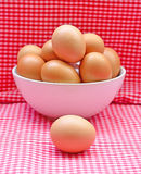 Eggs in the bowl Stock Photos