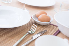Eggs on bowl Royalty Free Stock Photography