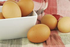 Eggs in a bowl Stock Photos