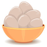 Eggs in the Bowl Royalty Free Stock Images