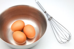 Eggs in a bowl Stock Photography