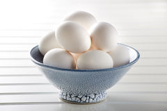 Eggs In Bowl Stock Photos