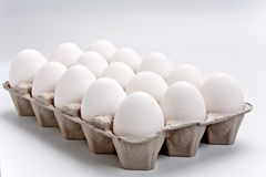 Eggs in the box Stock Photography
