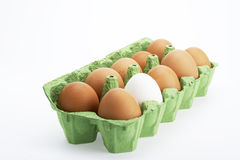Eggs in box. Food ingredients Royalty Free Stock Photography