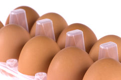 Eggs in box Royalty Free Stock Photos