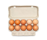 Eggs in the box Royalty Free Stock Images