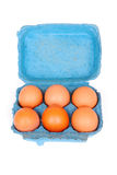 Eggs in box Royalty Free Stock Photography