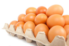Eggs in the box Royalty Free Stock Photos