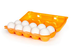 Eggs in the box Royalty Free Stock Photography