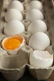 Eggs in a box Royalty Free Stock Photos