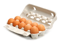 Eggs in a box Stock Image