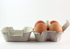 Eggs in box Royalty Free Stock Image