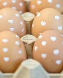 Eggs at the box Royalty Free Stock Photo