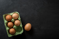 Eggs in Box food Background Stock Photo