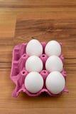 Eggs box isolated Royalty Free Stock Photos