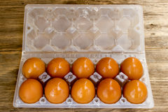 Eggs in box Royalty Free Stock Images