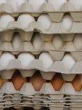 Eggs boxes market Stock Images