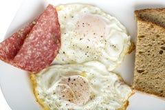 Eggs and bread Stock Photos