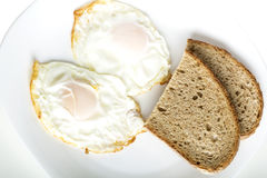 Eggs and bread Stock Image