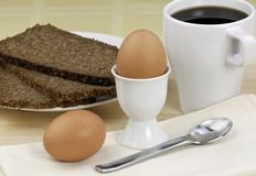 Eggs for breakfast Stock Images