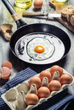 Eggs for breakfast fried Royalty Free Stock Images