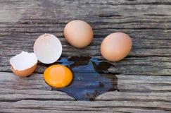 Eggs broken Stock Photography