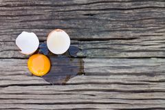 Eggs broken Royalty Free Stock Images