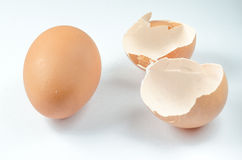 Eggs broken on isolated Royalty Free Stock Image
