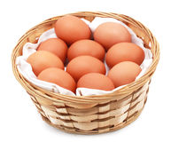 Eggs in bucket Royalty Free Stock Photography