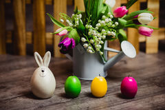 Eggs candle for easter Royalty Free Stock Photography