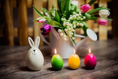 Eggs candle for easter Royalty Free Stock Photo